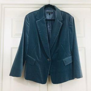 Lafayette 148 velvet blazer soft green Christmas